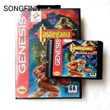 16 bit MD Memory Card With Box for Sega Mega Drive for Genesis Megadrive   Castlevania Bloodlines