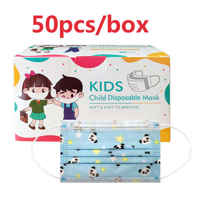 3-13 Years Old Children's 3 Layers Face Mask Kid Non-woven PP Face soft friendly Disposable Cartoon Printed Mask dropshipping 5