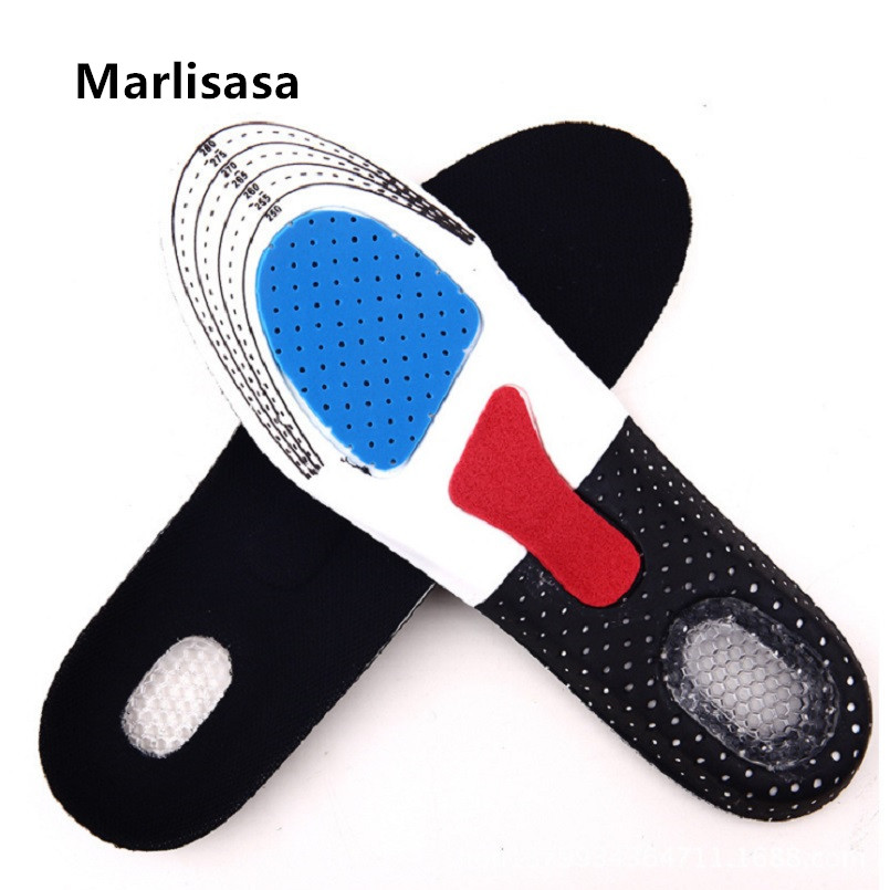 Marlisasa Schoenen Binnenzool Male Plus Size High Quality Silicon Shoes Insert Pads Men Light Weight Jelly Soft Insoles F5536b
