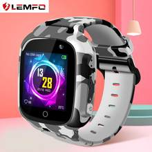 LEMFO Cute Smart Watch Kids Wifi SIM Card SOS Voice Chat Clear Camera IP67 Waterproof 600 mAH Battery Smartwatch GPS For Child(China)