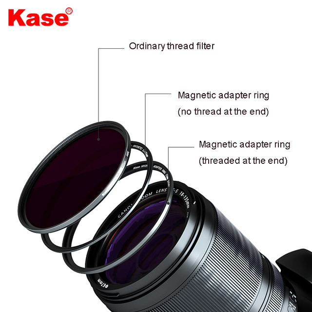 Kase Male Thread Magnetic Ring + Female Thread Magnetic Ring kit, the Thread Filter is Upgraded to a Magnetic Filter 5