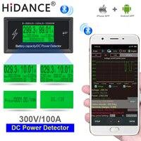 DC digital voltmetro 300 V/100A amperometro tensione Mobile APP auto misuratore di capacità della batteria volt corrente rilevatore di potenza di alimentazione tester-in Tester di tensione da Attrezzi su