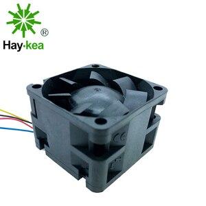 Image 1 - 12V pwm 4028 soğutma fanı 40mm 40*40*28 yüksek hızlı endüstriyel sunucu invertör soğutma fanlar çift bilyalı rulman