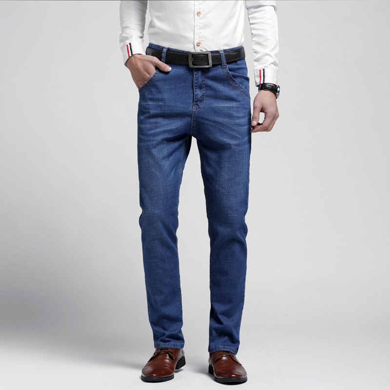 [] Main Push-Popular Brand Casual Jeans Straight-Cut Fashion Man Fashion Men's Trousers Business 1 PCs Color 311
