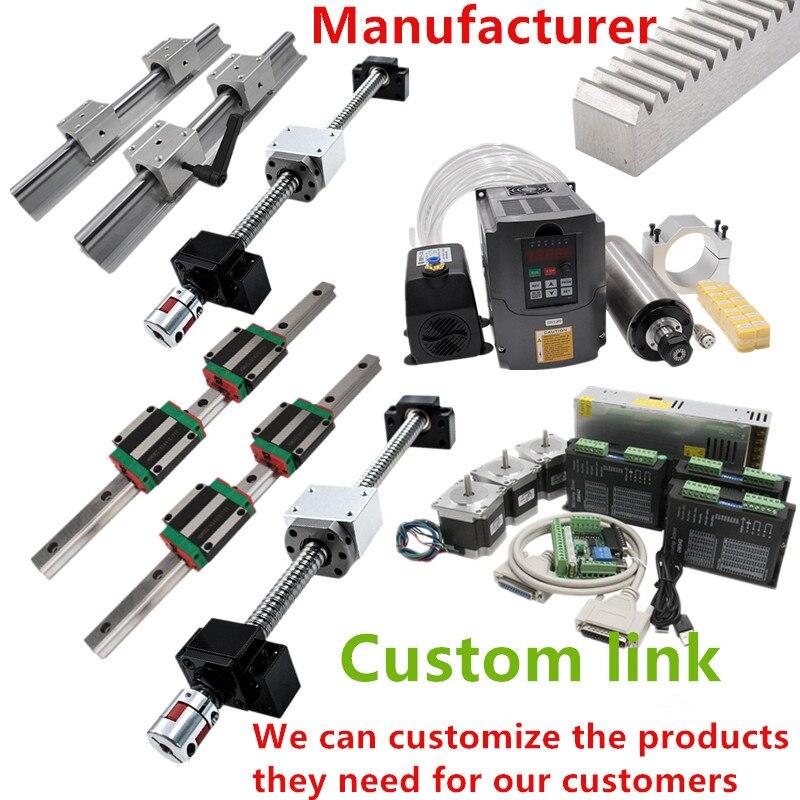 Personalizado cnc kit hgr20 sbr16 sfu1605 mgn guia linear trilho bola parafuso nome 23 motor deslizante inversor do eixo para diy máquina