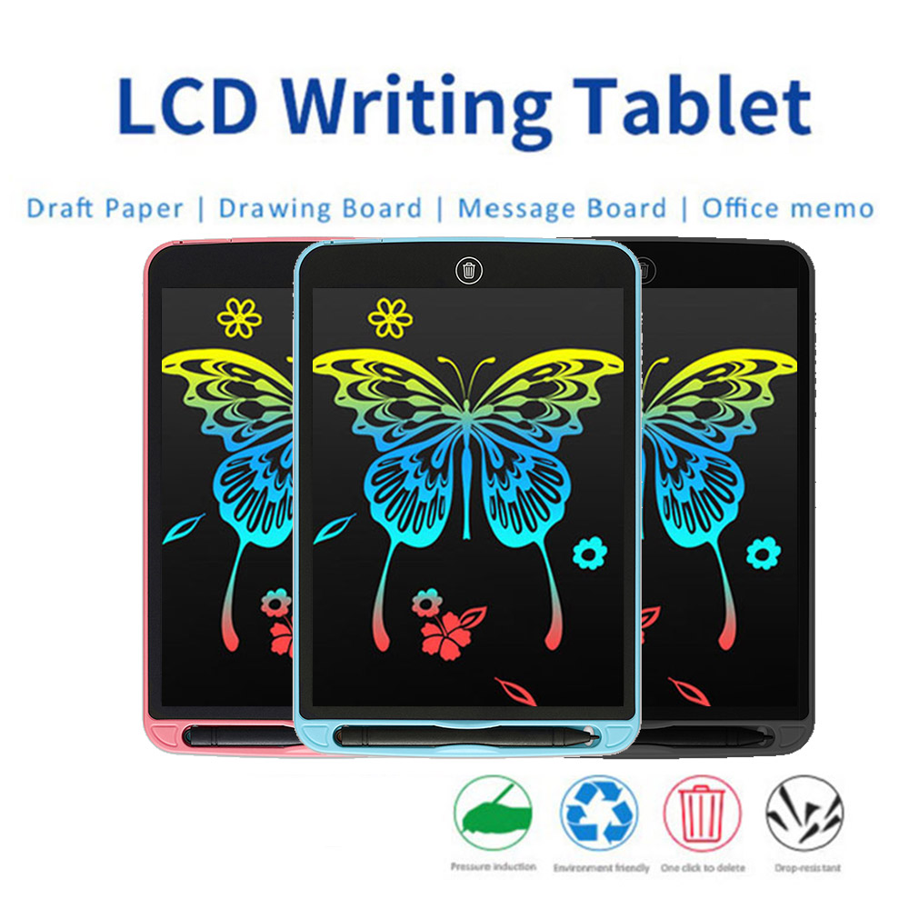 12 Inch Smart Colorful LCD Writing Tablet Digital Drawing Electronic Handwriting Pad Message Graphics Board Kids Writing Board