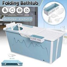 105cm chuveiro portátil dobrável banheira do agregado familiar adulto banheira banheira spa sauna grande banheira bandeja de chuveiro do bebê com assento