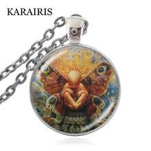 Karairis новые шармы продолжаются с любовью ожерелья 25 мм стеклянный