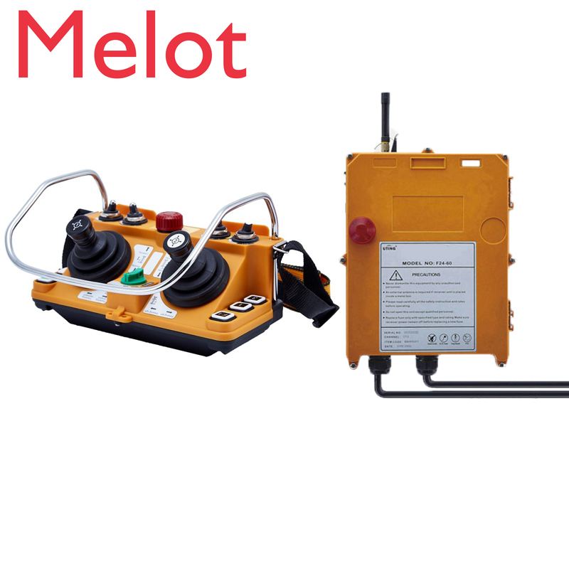 Original TELECRANE Wireless Industrial Remote Controller Electric Hoist Remote Control 1 Transmitter + 1 Receiver F24-60