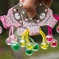 Neue Mode Mädchen Kinder Nette Acryl Perlen Ball Elastische Haar Bands Candy Farben Kinder Stretch Haar Krawatten Schöne Seil Bands