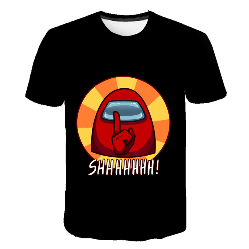 3D Among Cartoon Us Baby Kids Boys Girls amoung Children us T Shirt Short Sleeves Clothing Summer Among Us Print Tee chucky