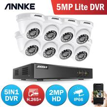 ANNKE 8CH 2MP HD Video Surveillance System H.265+ 5in1 5MP Lite DVR 4X 8X 1080P Dome Outdoor Weatherproof Security Cameras CCTV