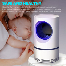Dropshipping!! LED Mosquito Killer Lamp Radiationless Quiet Photocatalytic Mosquito Repellent Night Light for Mother and Baby