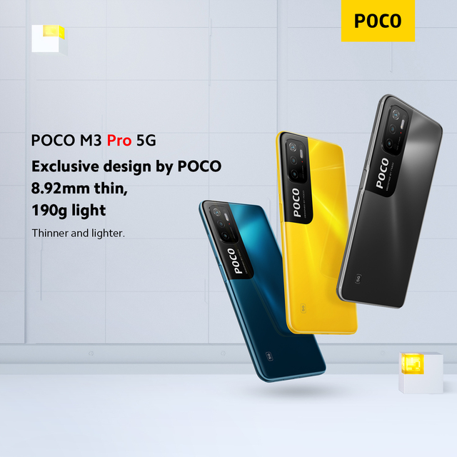 In Stock Global Version POCO M3 Pro 5G NFC 5000mAh 48MP Triple Camera Dimensity 700 Octa Core Smartphone 6
