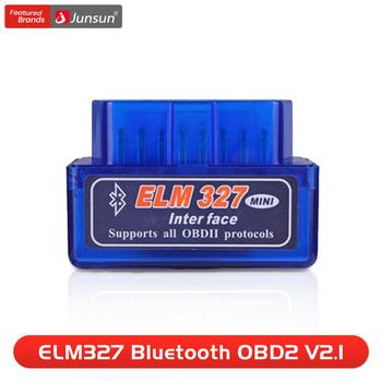 Auto skaner mini ELM327 Bluetooth OBD2 V2 1 Adapter narzędzie diagnostyczne do samochodów skaner dla Junsun DVD tanie i dobre opinie