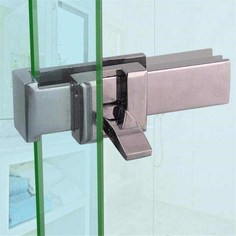 Bathroom Glass Sliding Door Lock Hasp Doorstop Window Security Anti-Theft Locks Zinc Alloy Home Hardware for Glass Thick 8mm