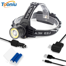 Super Bright LED Headlamp 4 Light Modes T6 + COB Headlight Waterproof Rotating Zoom Fishing Camping Light Use 2*18650 Battery 30000 super bright led headlamp t6 4 xml xpe led headlight lumens fishing lamp 4 lighting modes camping lamp use 18650 battery
