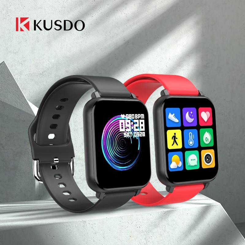 KUSDO 2020 New Smartwatch IP67 Waterproof Smart Watch Men Women Sport Fitness Bracelet Health Monitor For Xiaomi Apple Android