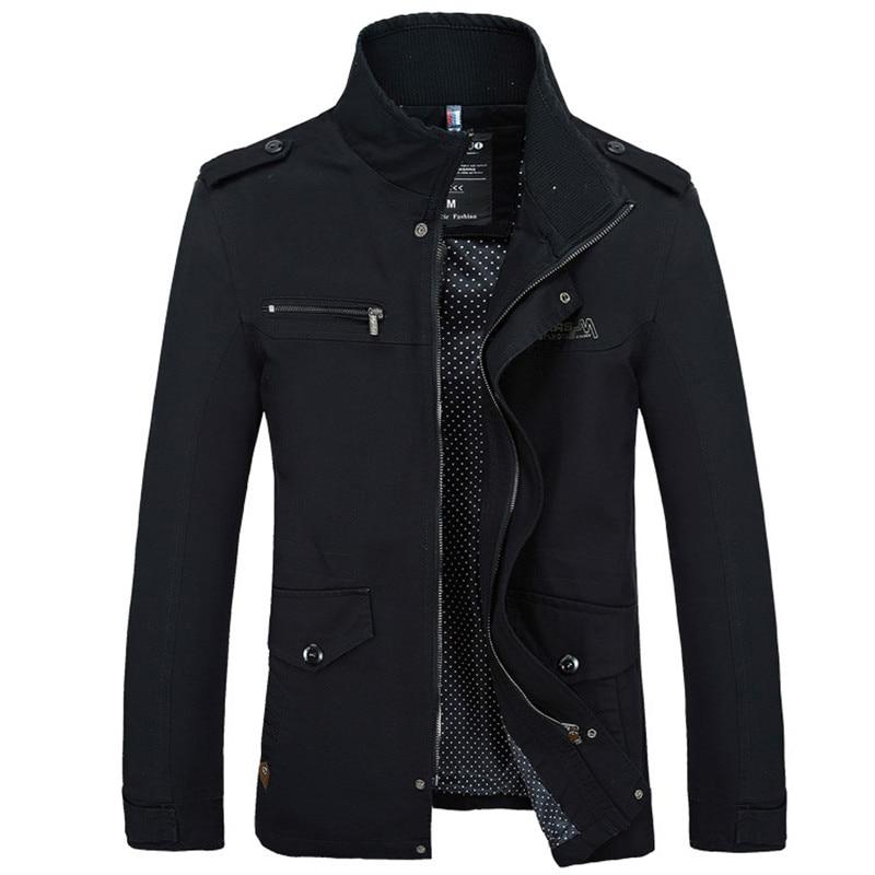 Brand Men Jacket Coats Fashion Trench Coat New Autumn Casual Silm Fit Overcoat Black Bomber Jacket Male long jacket Men M-5XL