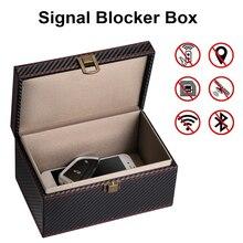 Anti Furto di Faraday Box Auto Keyless Signal Blocker Sicurezza RFID Faraday Chiave Fob Protezione Prevenire Furto Del Telefono Cellulare Chiave Box