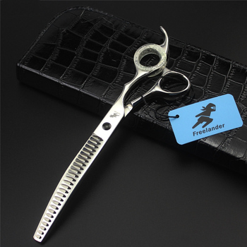 """7.5"""" 8.0 inch Shark Teeth Curved Thinning Scissors Pet Grooming Shears Dog Cat Hair Cut Clipper Pet Groomer Hairdressing Tools"""