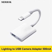 Для перехода от разъема Lightning к цифровая usb-камера OTG передачи данных разъём кабельный переходник высокого Мощность 500mA для iPad mini 2/3/4 Air iPhone X XR XS Max 8