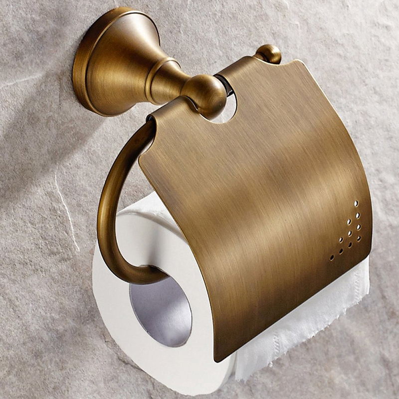Antique Bathroom Accessories Brass Toilet Roll Paper Holder Lavatory Accessories Wall Mounted