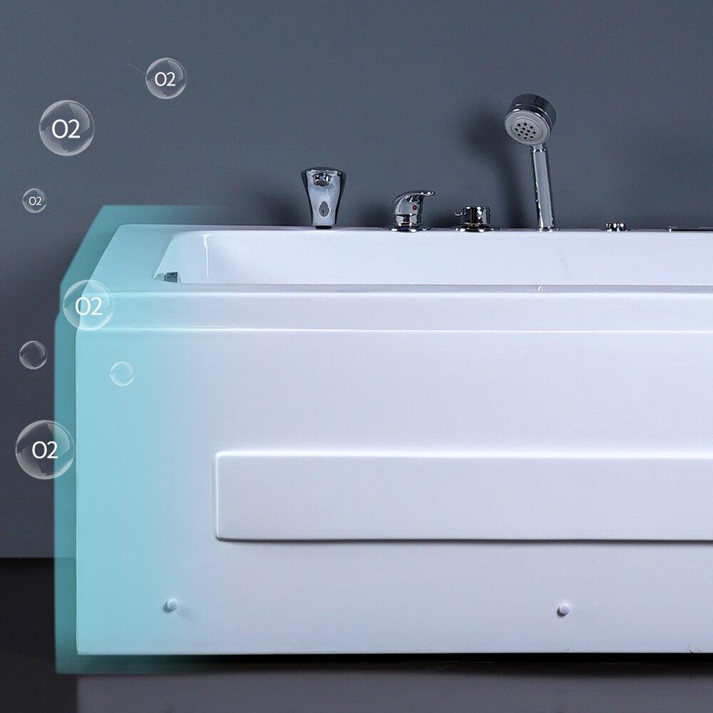 DCAN светодиодный гидромассажная Ванна для ванной, акриловая ванна для серфинга, массажная квадратная ванна, отдельно стоящая