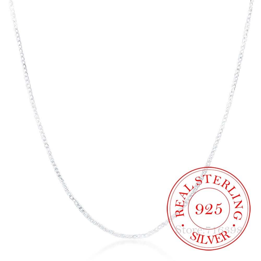Мужские и женские ожерелья, 2 мм, 16 дюймов 30 дюймов, боковая цепочка, хорошее ювелирное изделие из стерлингового серебра 925 пробы Ожерелья      АлиЭкспресс