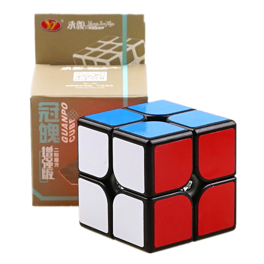Yongjun 2x2 Upgraded Version GuanPo Pocket Mini Cube Educational Game 2x2x2 Speed Magic Cube Toys For Kids Learning