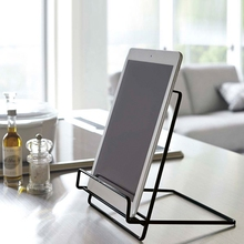 Support-Stand-Holder Wrought-Iron-Organizer Storage-Rack Book-Magazine-Display Tablet