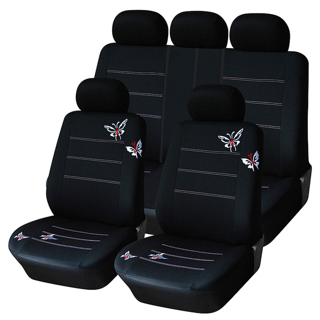$ US $12.74 AUTOYOUTH Butterfly Embroidered Car Seat Cover Universal Fit Most Vehicles Seats Interior Accessories Black Seat Covers
