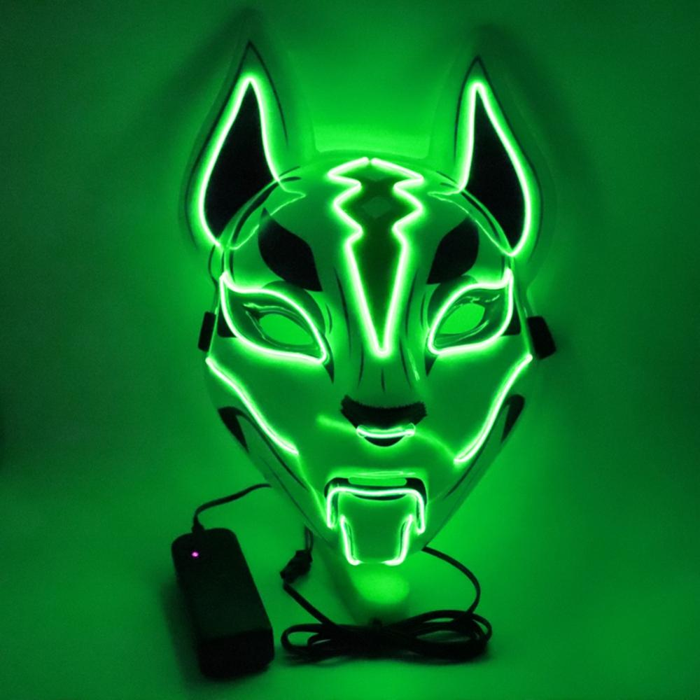 Fox Glow Mask Halloween Party Led Horror Masquerade Cosplay