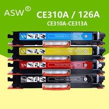 Cartucho de toner para hp laserjet pro, 4 unidades, ce310 ce310a-313a 126a 126 cor compatível cp1025 m275 100 mfp m175a m175nw