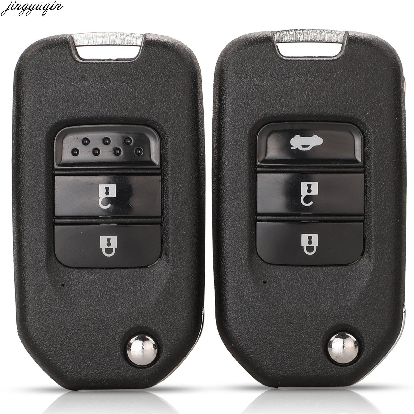 Funda para mando a distancia Jingyuqin, carcasa para coche para Honda Civic Accord City CR-V Jazz XR-V Vezel HR-V FRV, llave Original de 2/3 botones