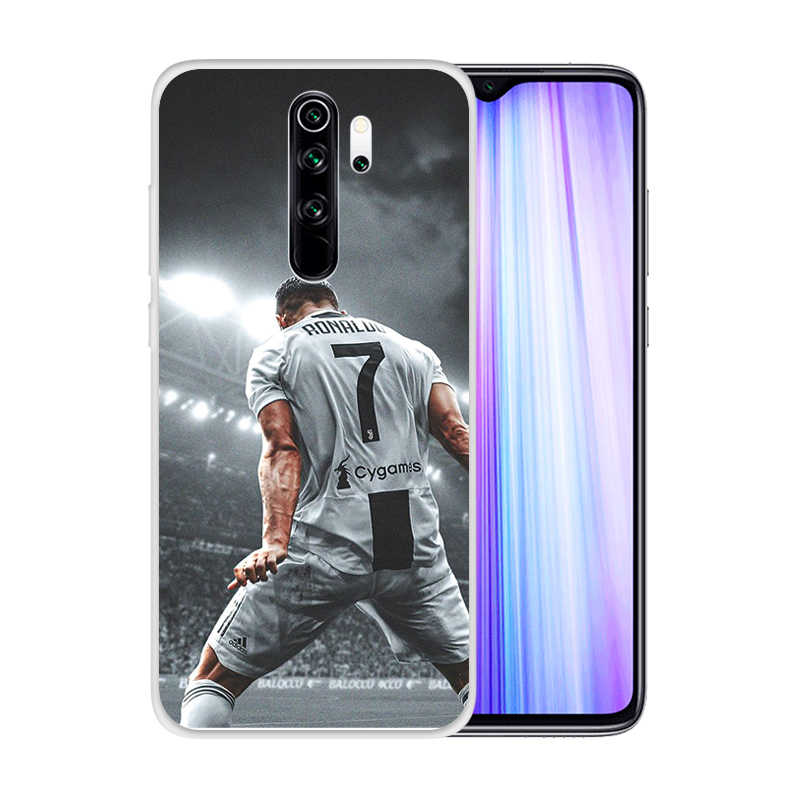 Soft Silicone Clear TPU Case for Xiaomi Redmi Note 8 Pro 7 6 K20 K30 5G 8A 7A Durable CR7 C Ronaldo Cover