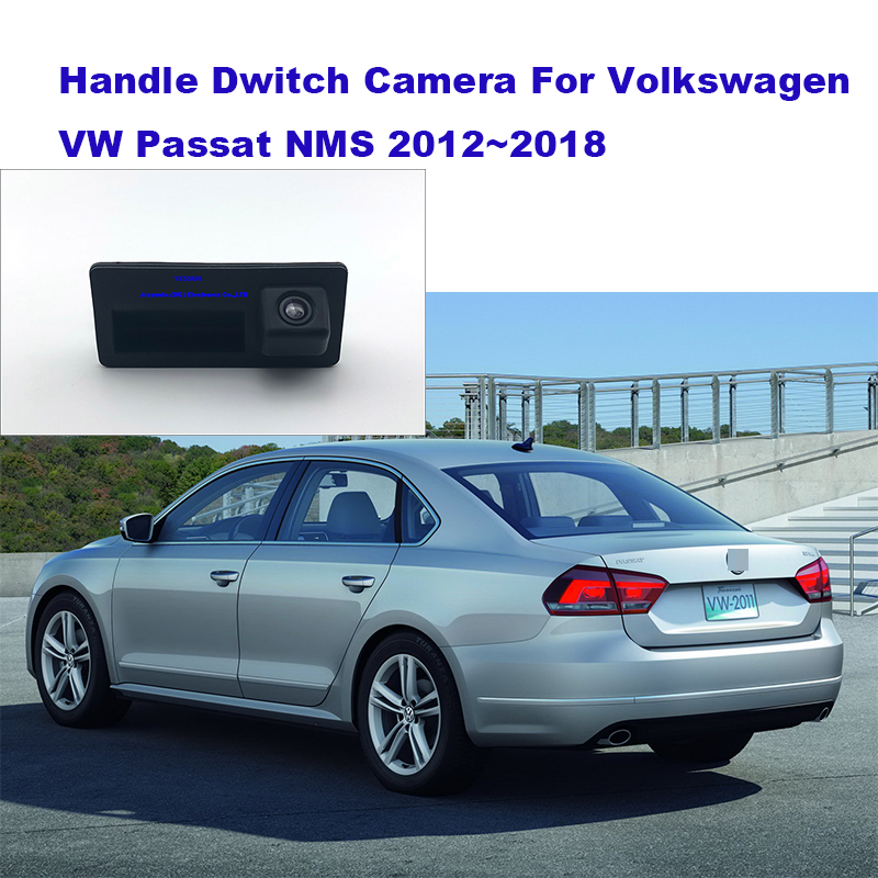 Yessun Rear Trunk Tailgate Back Door Handle Rear View Parking Backup Camera HD For Volkswagen Passat NMS 2012~2018|Vehicle Camera| |  - title=