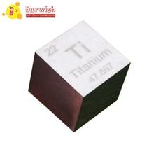 Мини 1-дюймовый 99.5% чистого металла Титан куб химических элементов коллекции