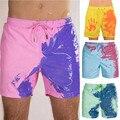 Мужские пляжные шорты, быстро сохнут, Пляжные штаны, теплые Цветные Шорты для плавания, серфинга, шорты