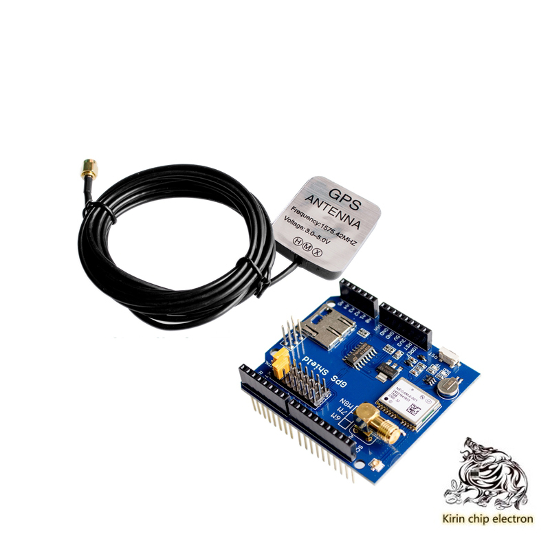 1PCS/LOT NEO-6M GPS Shield GPS Record Expansion Board GPS Module With SD Card Slot+antenna