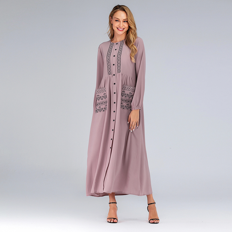 Abaya Turkey Islamic Arabic Muslim Dress Caftan Marocain Kaftan Moroccan Arab Tesettur Elbise Vestidos Robe Longue Hijab Dress
