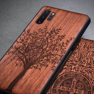 Image 3 - Custom Carved Wood Case For Samsung note 10 plus Note 8 Note 9 Case funda For Samsung s10 s9 plus Wooden TPU Protective Case