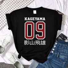 Street Fashion Haikyuu Anime Print T-Shirts Women Oversize Loose T-Shirt Cartoons Sweat Clothing Fashion Crewneck Tops Summer