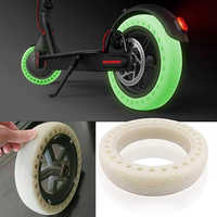 Fluorescent Tire for Xiaomi Mijia M365, 8.5inch Solid Wheels for Electric Scooter Tubeless Solid Tire Shock Absorption Outer Cov