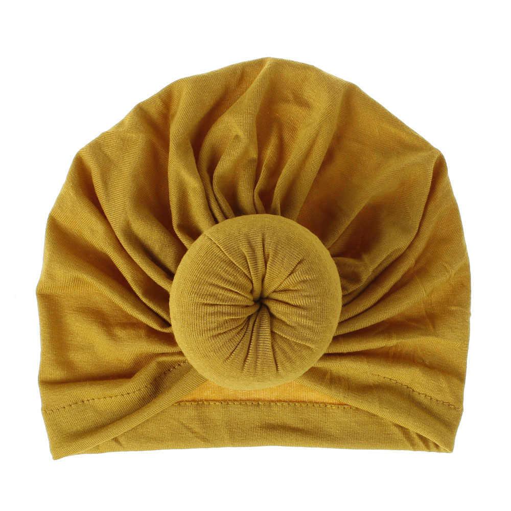 אופנה תינוק כובעי סופגנייה כובע יילוד אלסטי כותנה כובעי תינוקות בנות טורבן כפת כובע צילום תמונה אביזרי רך כובעים