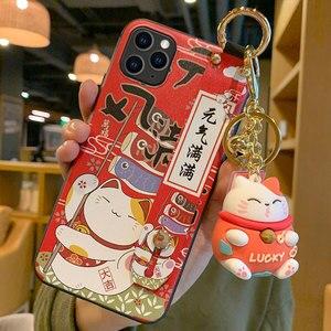 Image 4 - מזל חתול צמיד TPU מקרה טלפון נייד עבור סמסונג A72 A80 A90 מגן כיסוי עבור Note10 10pro 8 9 10 s20 סיליקון מקרי