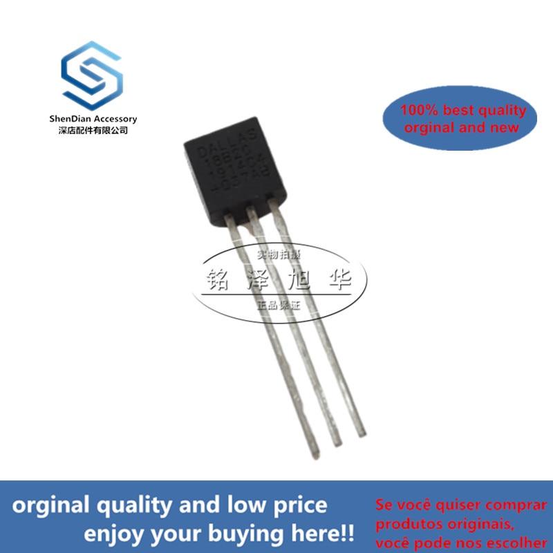 2pcs 100% Orginal New DS18B20 18B20  TO-92 Temperature Sensor Real Photo