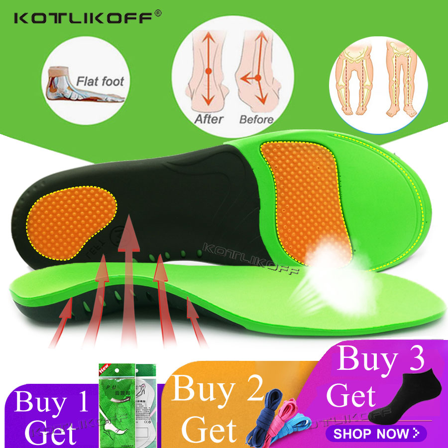 KOTLIKOFF High Quality EVA Orthotic Insole For Flat Feet Arch Support Orthopedic Shoes Sole Insoles For Men And Women Shoe Pads