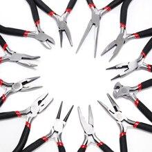 Ferronickel углеродистая сталь круглый нос торцевые кусачки для ювелирных изделий инструменты DIY оборудование плоскогубцы подходят для ручной работы Бисероплетение ремонт