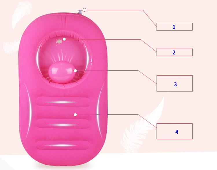 Inflável banheira do bebê infantil portátil dobrável